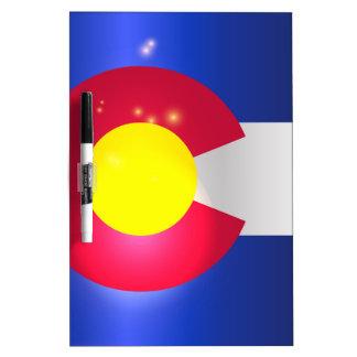 Colorado State Flag Glow Dry Erase Board