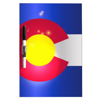 Colorado State Flag Glow Dry Erase Boards