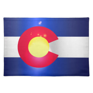 Colorado State Flag Glow Placemat