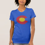 Colorado State Flag Grunge Denver Love Shirt