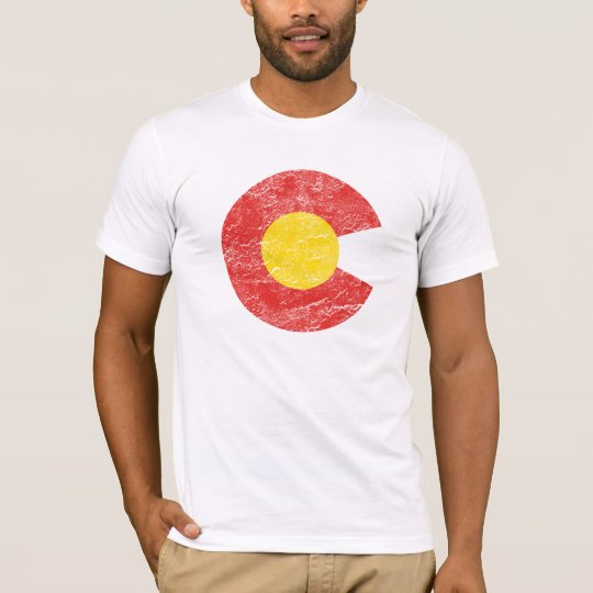Colorado State Flag Grunge Denver Love T-Shirt