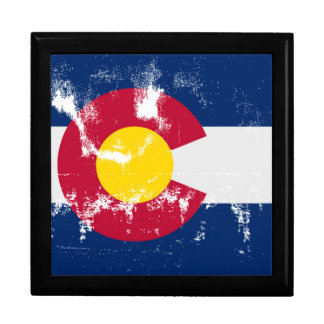 Colorado State Flag Grunge Gift Box