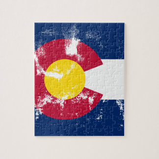 Colorado State Flag Grunge Jigsaw Puzzle