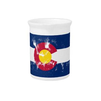Colorado State Flag Grunge Pitcher