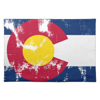 Colorado State Flag Grunge Placemat