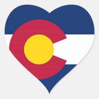 Colorado State Flag Heart Sticker