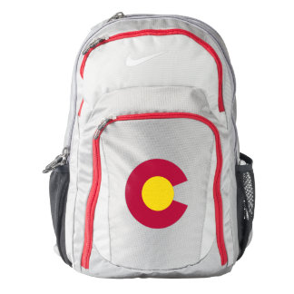 Colorado State Flag Letter C with Gold Center Backpack