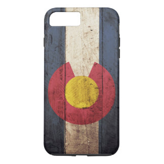 Colorado State Flag on Old Wood Grain iPhone 8 Plus/7 Plus Case