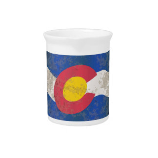 Colorado State Flag Pitcher