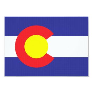 Colorado State Flag.png 13 Cm X 18 Cm Invitation Card