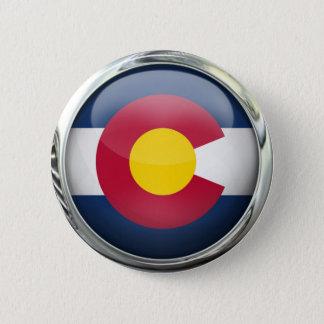 Colorado State Flag Round Glass Ball 6 Cm Round Badge
