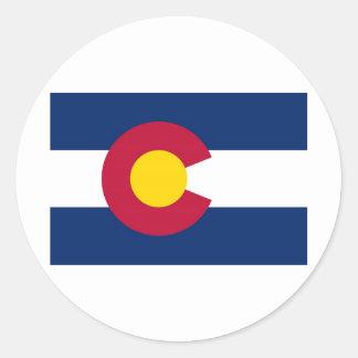 Colorado State Flag Round Sticker