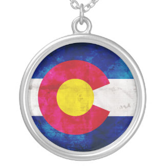Colorado State Flag Silver Plated Necklace