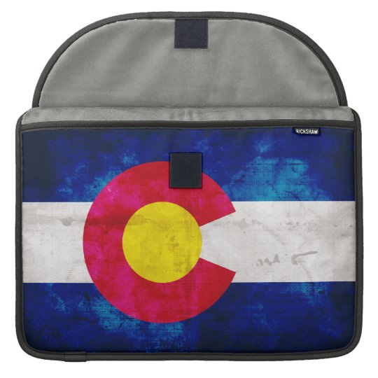 Colorado State Flag Sleeve For MacBook Pro