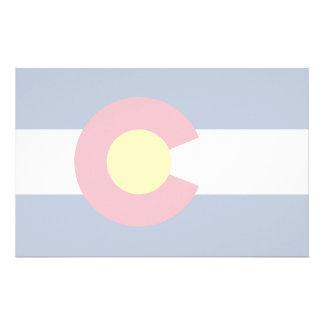 Colorado State Flag Stationery Design