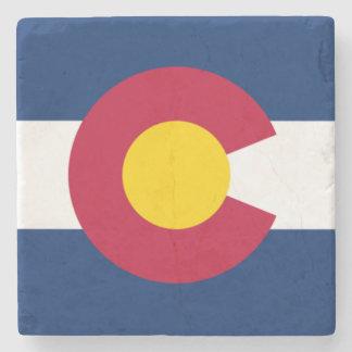 Colorado State Flag Stone Coaster