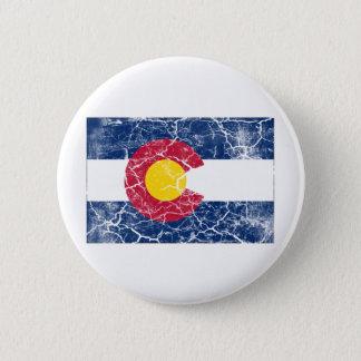 Colorado State Flag Vintage 6 Cm Round Badge