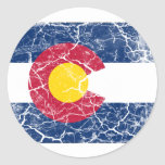 Colorado State Flag Vintage Classic Round Sticker