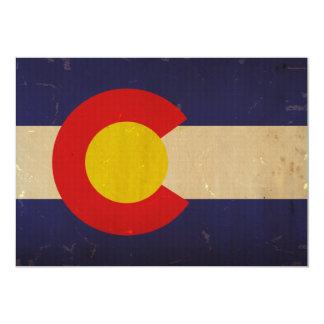 Colorado State Flag VINTAGE.png 13 Cm X 18 Cm Invitation Card