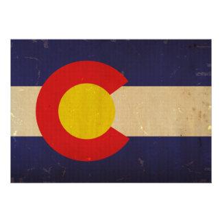 Colorado State Flag VINTAGE png Custom Invitation