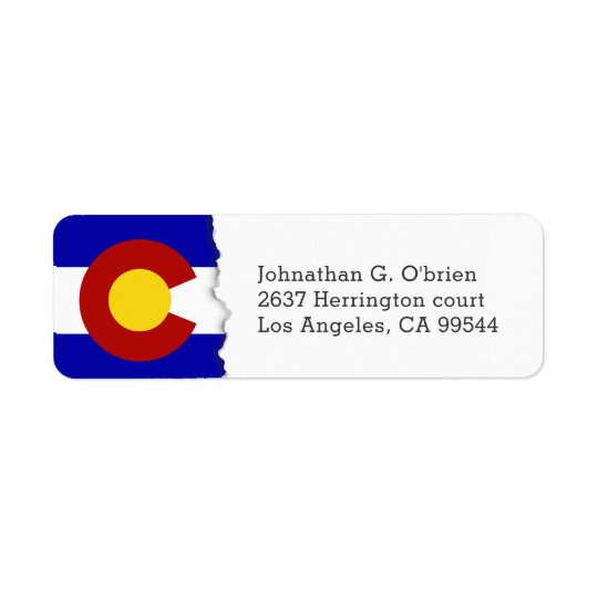 Colorado State Flag White Personalised