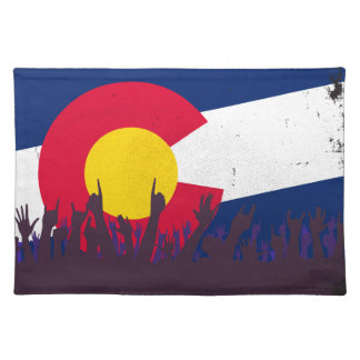 Colorado State Flag with Audience Placemat