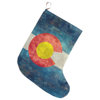 Colorado State flag with vintage retro grungy look