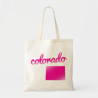 Colorado state in pink tote bag