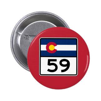 Colorado State Route 59 6 Cm Round Badge