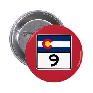 Colorado State Route 9 6 Cm Round Badge