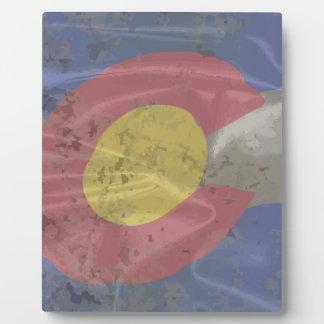Colorado State Silk Flag Photo Plaque