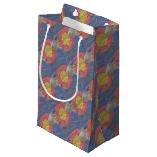 Colorado State Silk Flag Small Gift Bag