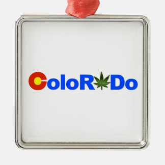 ColoRADo StateFlag Text with MJ leaf ornament