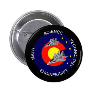 Colorado STEM 6 Cm Round Badge