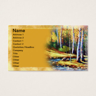 Colorado Stream Art Business Card