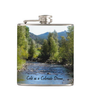 Colorado Stream photo - Estes Park Hip Flask