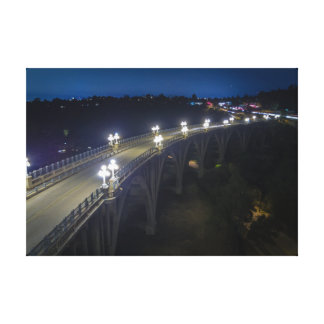 Colorado Street Bridge at night Canvas Print
