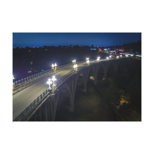 Colorado Street Bridge at night Canvas Print