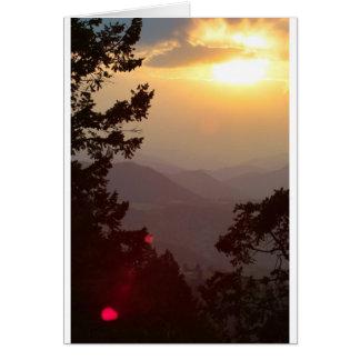 Colorado Sunset Card