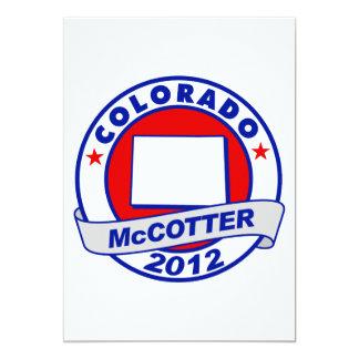 Colorado Thad McCotter 13 Cm X 18 Cm Invitation Card