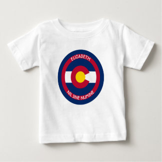 Colorado The Centennial State Personalized Flag Baby T-Shirt