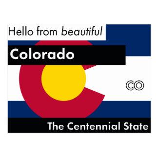 Colorado The Centennial State Postcard