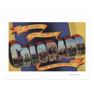Colorado (The Mile High State) Postcard
