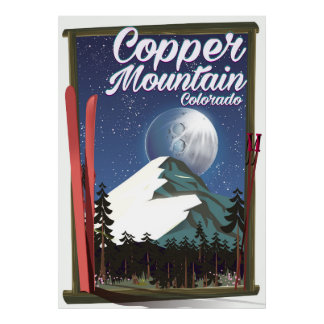 Colorado travel poster Copper Mountain