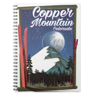 Colorado travel poster Copper Mountain Spiral Notebook