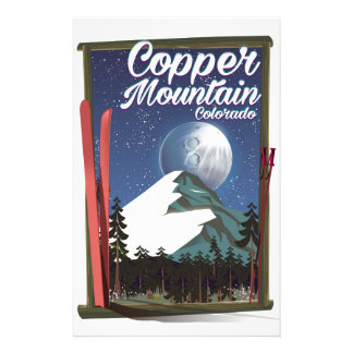 Colorado travel poster Copper Mountain Stationery