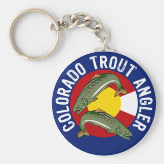 Colorado Trout Angler Keychains