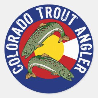 Colorado Trout Angler Round Sticker