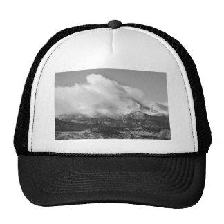 Colorado Twin Peaks Winter Weather View BW Cap