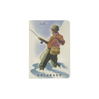 Colorado USA Vintage Travel passport holder